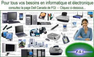 Produits Dell en promotion, uniquement sur le site FGI
